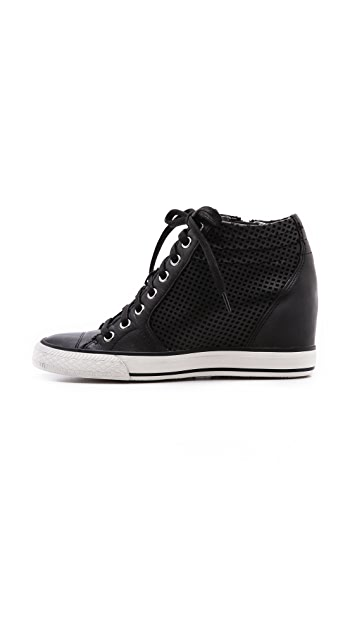 DKNY Cindy Perf Wedge Sneakers