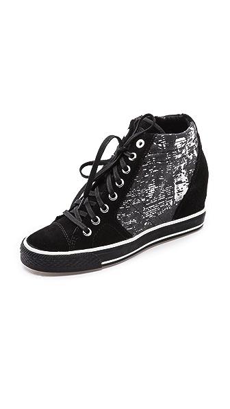 DKNY Cindy Print Wedge Sneakers