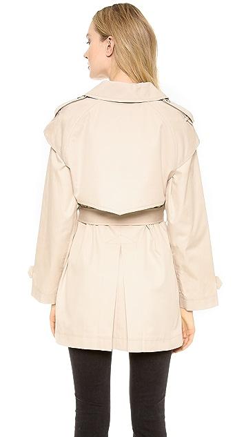 DKNY Long Sleeve Trench Coat