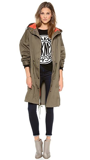 DKNY Long Sleeve Zip Anorak
