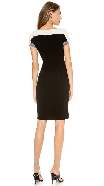 DKNY Colorblock Short Sleeve Dress