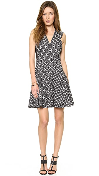 DKNY Sleeveless V Neck Dress