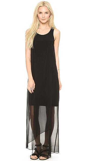 DKNY Faux Wrap Maxi Dress
