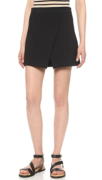 DKNY Faux Wrap Shorts