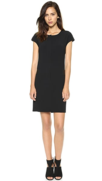 DKNY Cap Sleeve Zip Front Dress