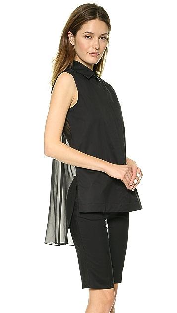 DKNY Sleeveless Button Thru Blouse