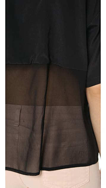 DKNY Short Sleeve Blouse