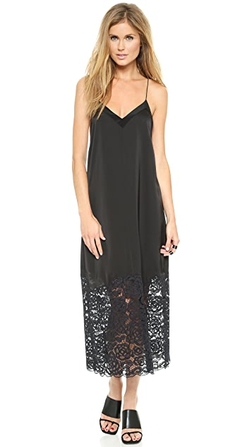 DKNY V Neck Slip Dress