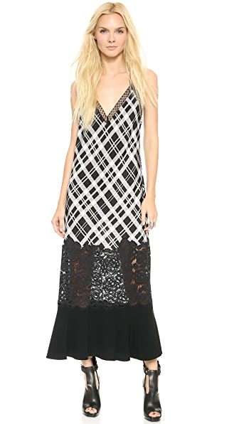 DKNY Maxi V Neck Cami Dress