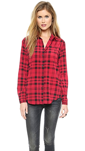 DKNY Long Sleeve Button Thru Blouse