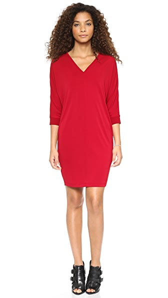 DKNY Dolman Sleeve V Neck Dress