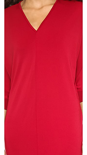 DKNY Dolman Sleeve V Neck Dress