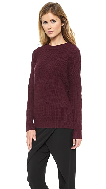 DKNY Drop Shoulder Pullover Sweater