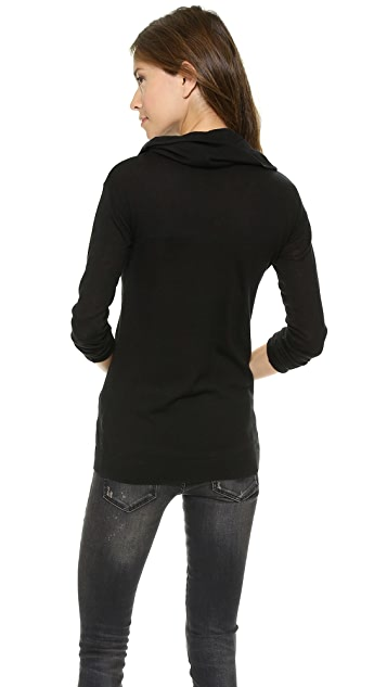 DKNY Long Sleeve Cowl Neck Pullover