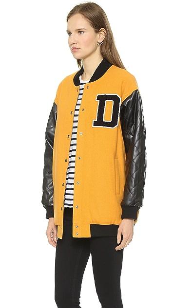 DKNY Snap Front Varsity Jacket