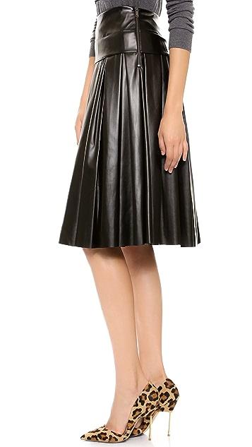 DKNY Pleated Midi Skirt