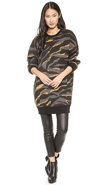 DKNY Long Sleeve Drop Shoulder Sweater