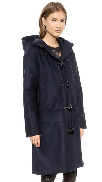 DKNY Hooded Toggle Coat