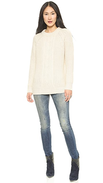 DKNY Novelty Stitch Raglan Sleeve Pullover