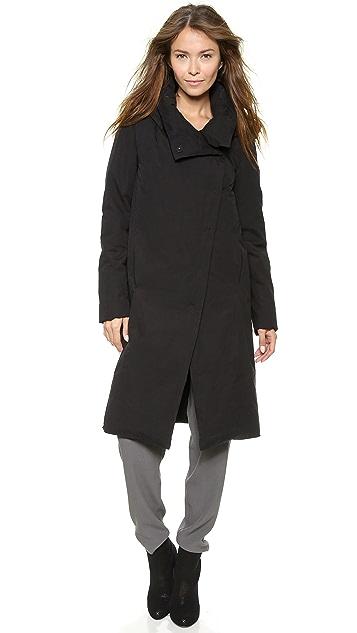 DKNY Pure DKNY Asymetrical Snap Front Coat