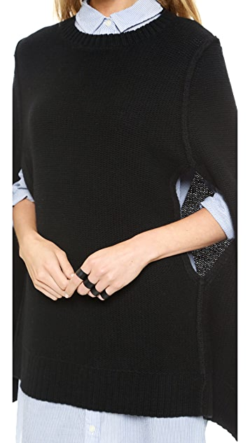 DKNY Pure DKNY Wool Knit Cape