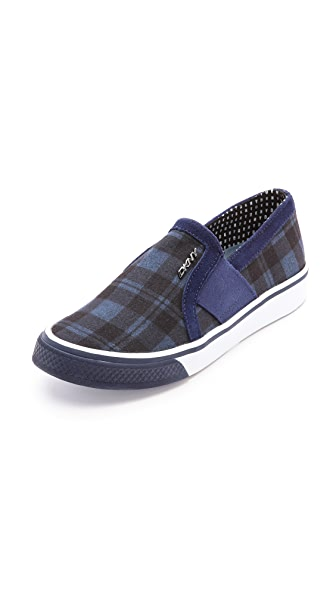 DKNY Barrow Plaid Slip On Sneakers