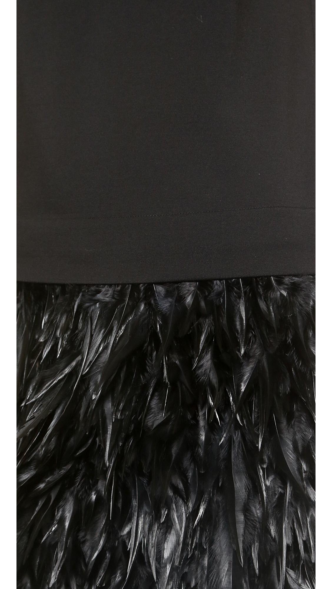 290ee34cf DKNY Short Sleeve Feather Dress   SHOPBOP