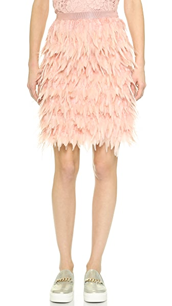 DKNY Tiered Feather Skirt