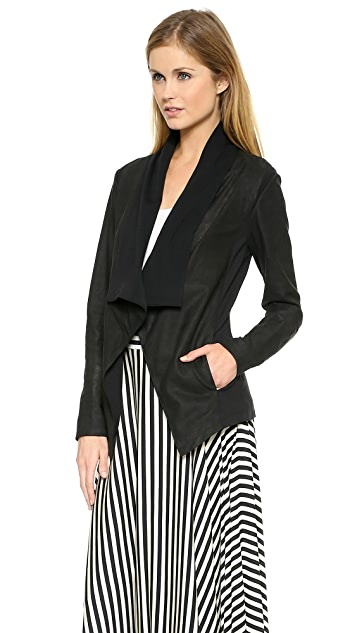 DKNY Pure DKNY Draped Leather Jacket