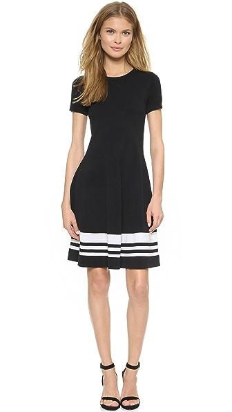 DKNY Striped Border Dress
