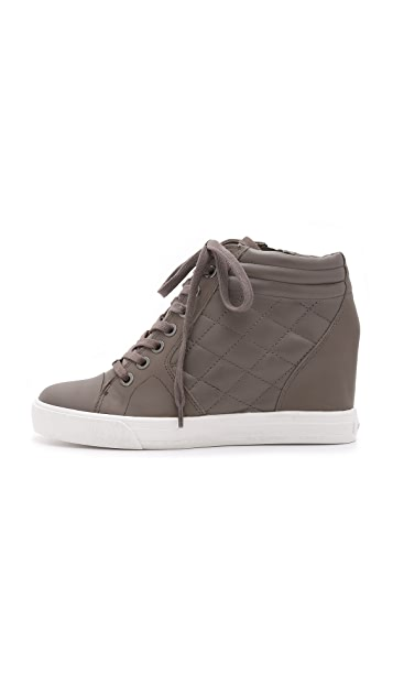 DKNY Cindy Quilted Wedge Sneakers