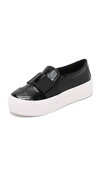 DKNY Banner Bow Slip On Sneakers
