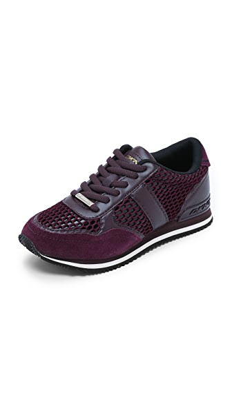 Dkny Jamie Jogger Sneakers - Black/Dark Beet Red