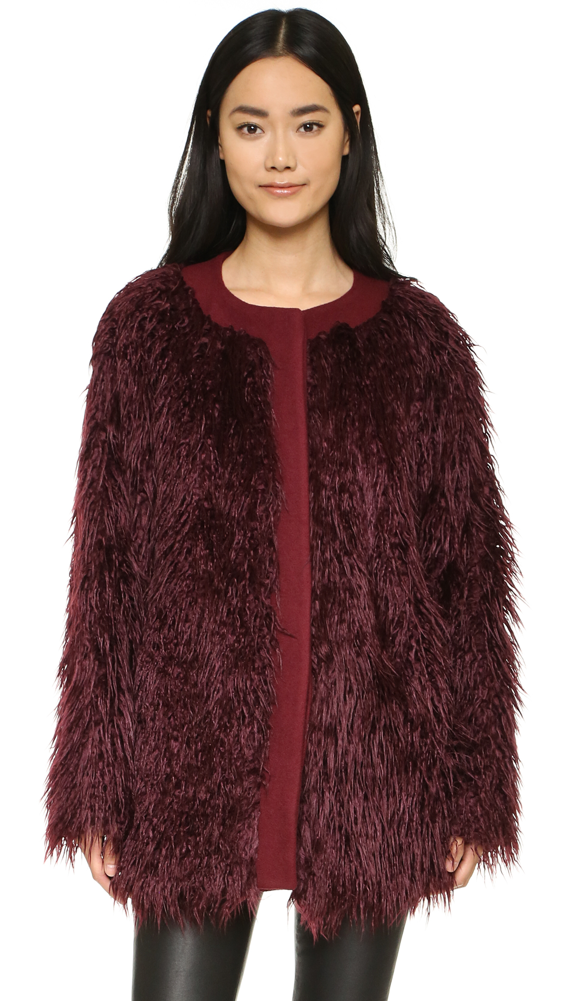 DKNY Faux Fur Coat | SHOPBOP