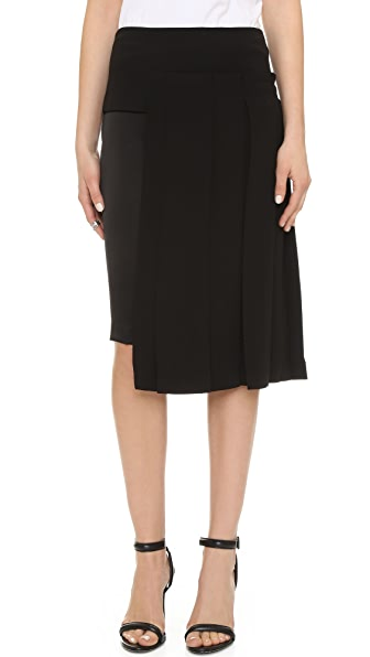 DKNY Skirt with Pleated Overlay