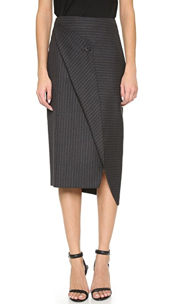 DKNY Asymmetrical Pencil Skirt
