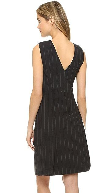 DKNY Runway Sleeveless Wrap Dress