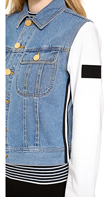 DKNY x Opening Ceremony Jacket with Sweatshirt Sleeves