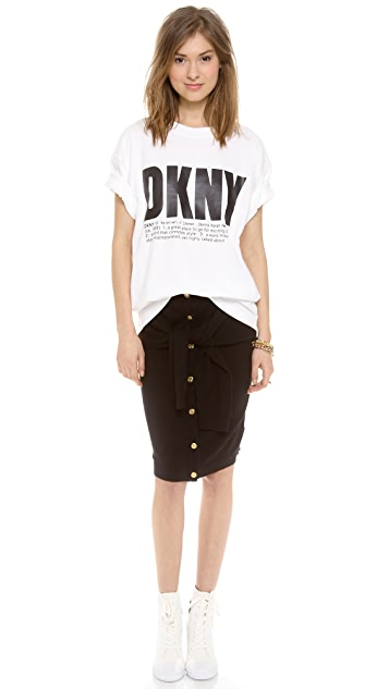 DKNY x Opening Ceremony Skirt with Front Tie