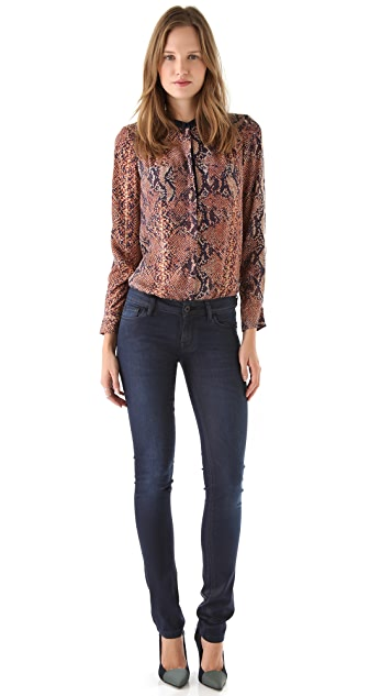 DL1961 Jessica Coated Skinny Jeans