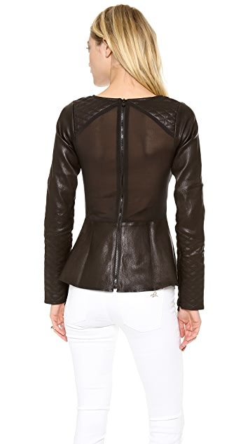 DL1961 Brynn Quilted Leather Top