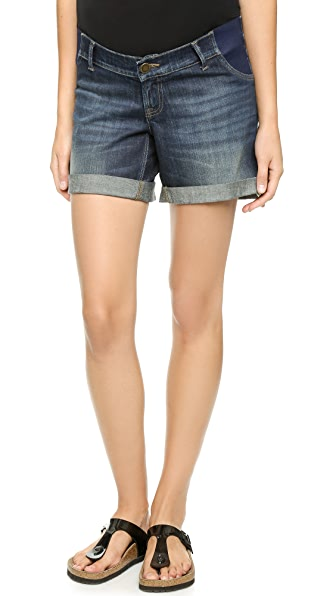 DL1961 Karlie Maternity Roll Up Shorts - Webster