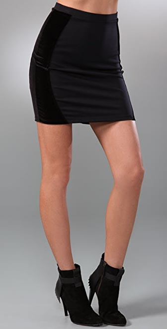 David Lerner Velour Shaper Skirt