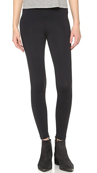 David Lerner Lightweight High Waist Leggings - Black