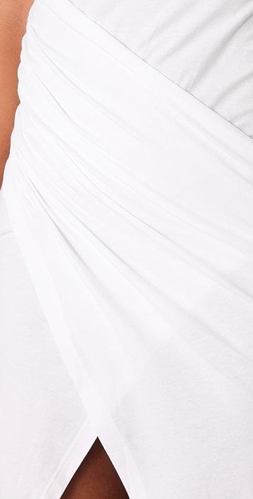 David Lerner Draped Asymmetrical Dress