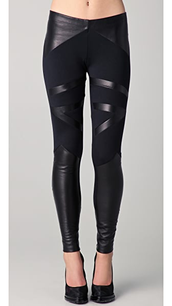 Leather Inset Legging