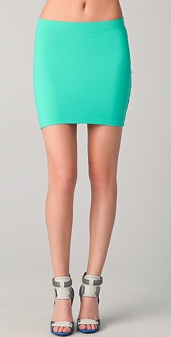 David Lerner Jersey Miniskirt