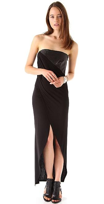David Lerner Strapless Asymmetrical Dress