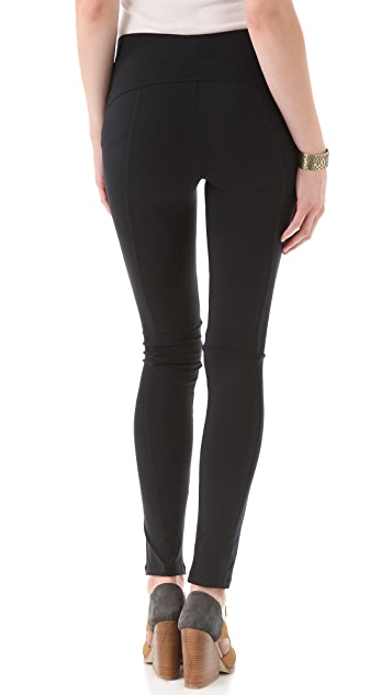 David Lerner Leather Front Leggings