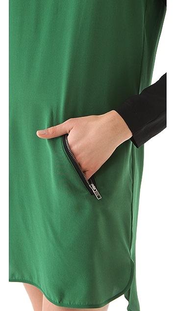 David Lerner Keyhole Colorblock Dress